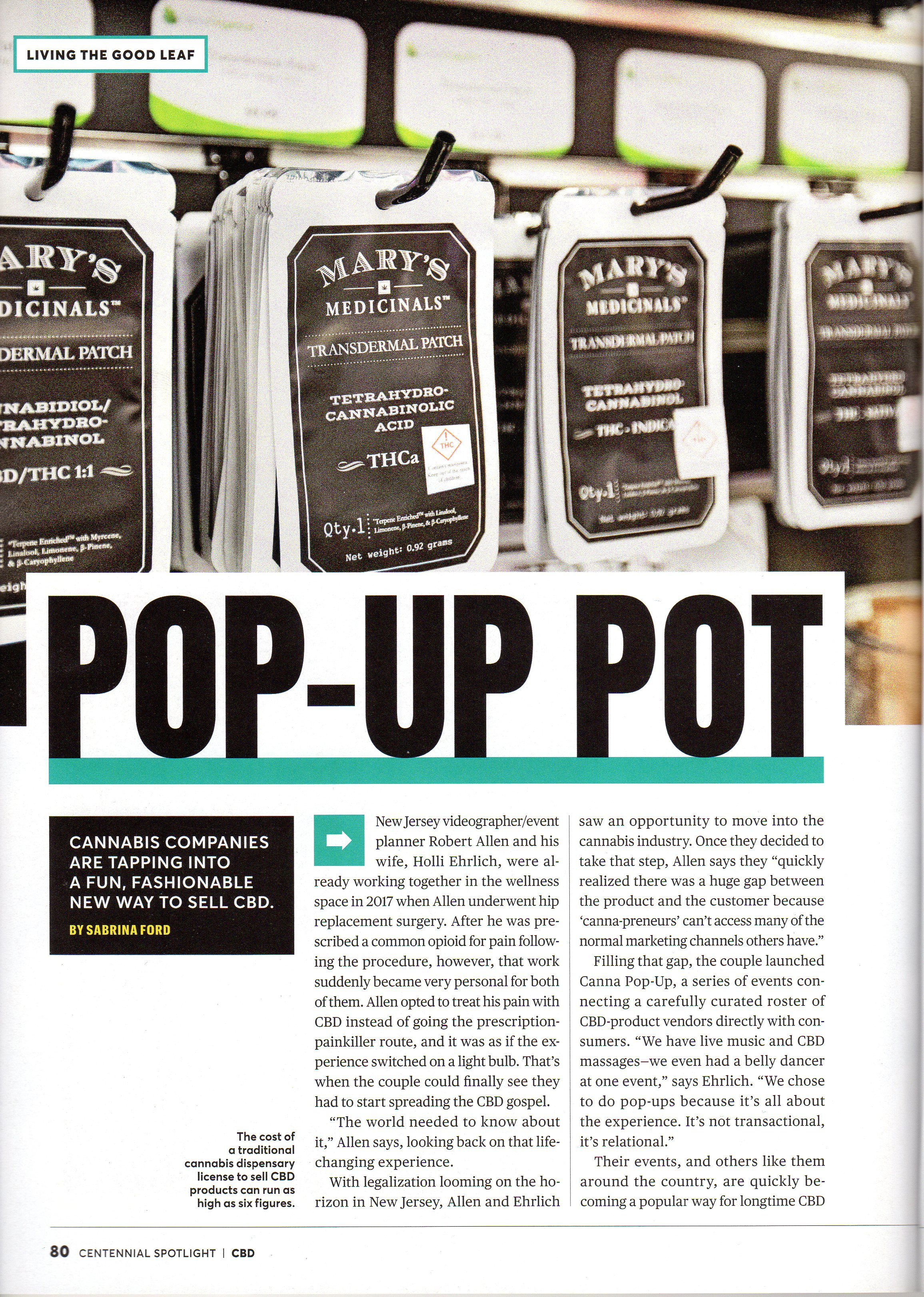 Pop-Up Pot Article in The Complete Guide to CBD 2